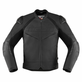 MENS JACKETS CONTRA 2 LEATHER PETFORATED-STEALTH